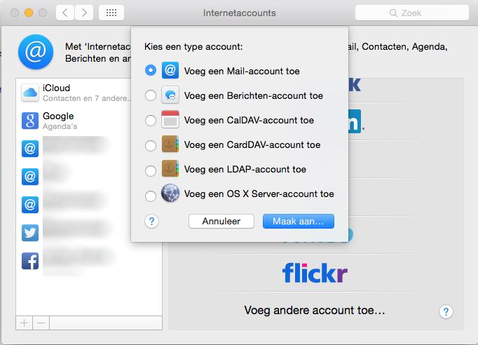 Apple mail instellen