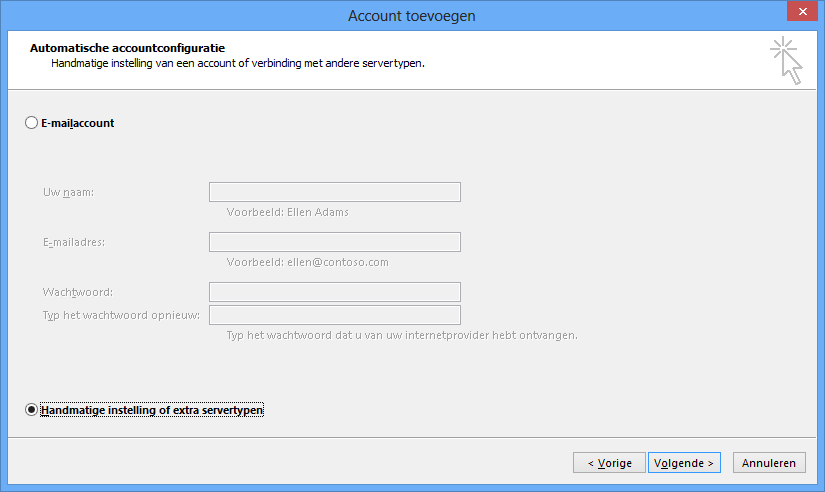 Outlook instellen - stap 3